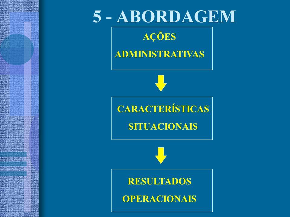 5 - ABORDAGEM AÇÕES ADMINISTRATIVAS CARACTERÍSTICAS SITUACIONAIS