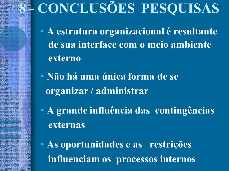 8 - CONCLUSÕES PESQUISAS