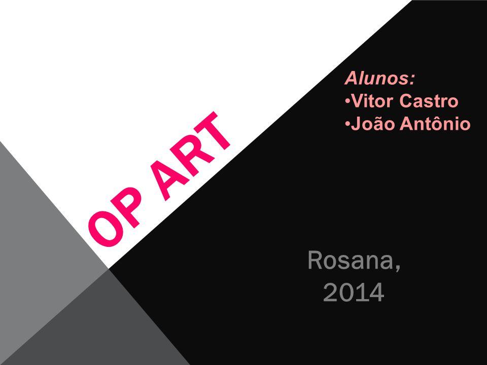 Alunos: Vitor Castro João Antônio OP ART Rosana, 2014