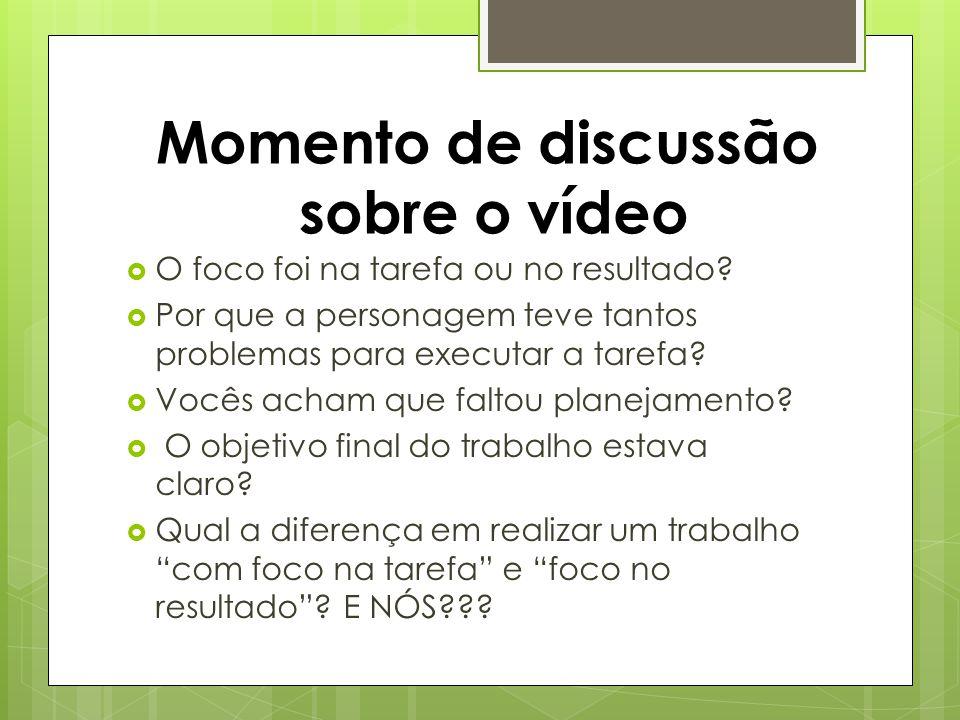 Momento de discussão sobre o vídeo