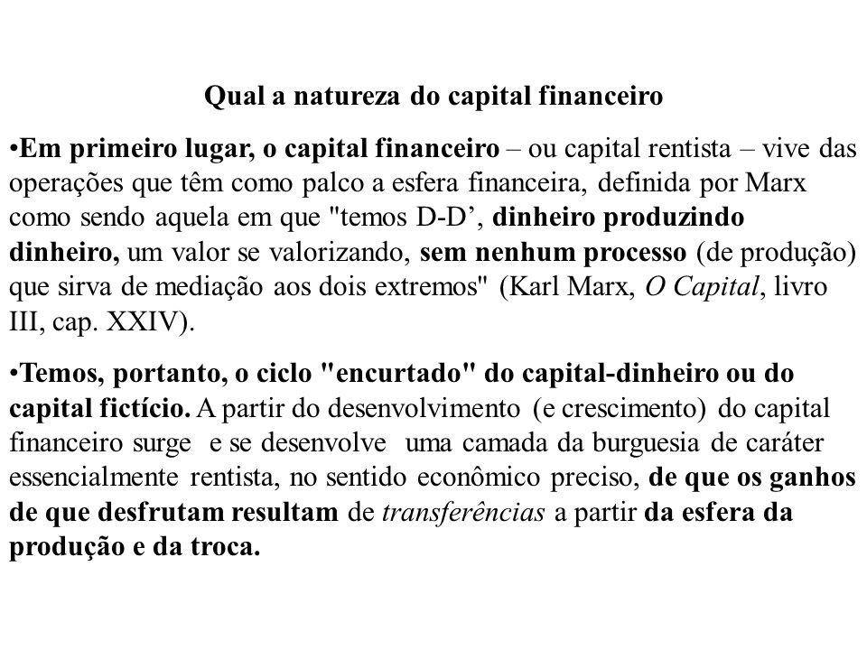 Qual a natureza do capital financeiro