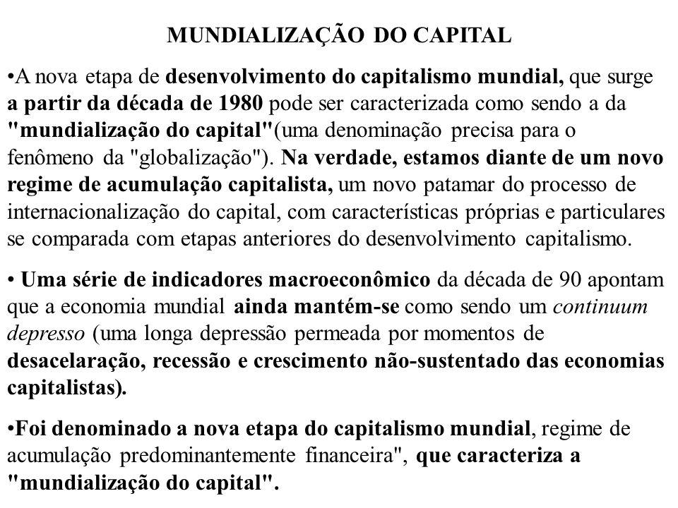 MUNDIALIZAÇÃO DO CAPITAL