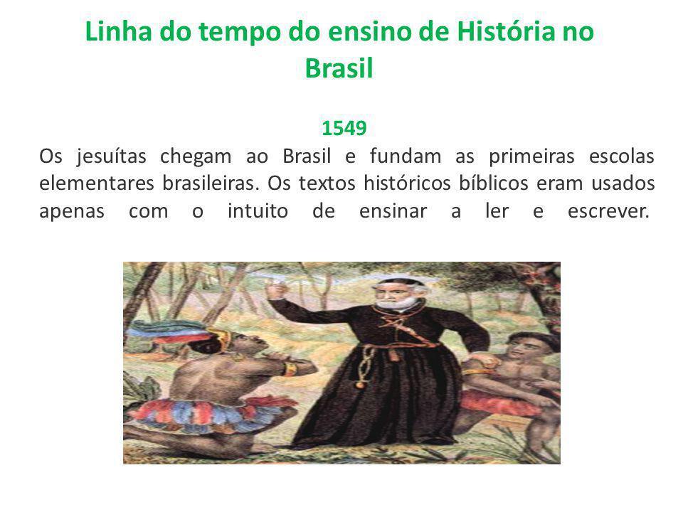 Linha do tempo do ensino de História no Brasil