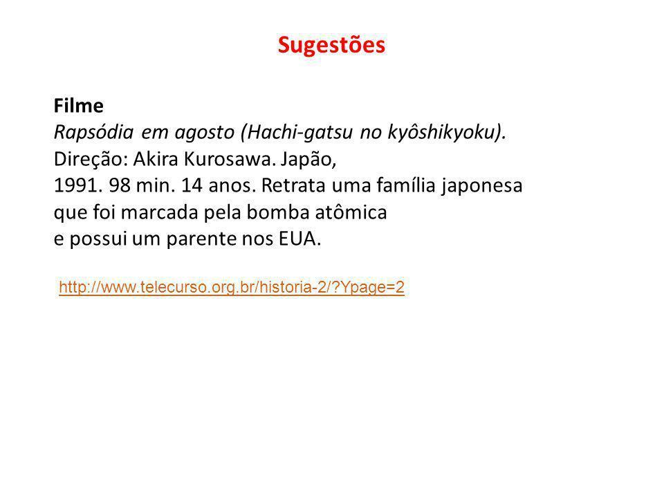 Sugestões Filme Rapsódia em agosto (Hachi-gatsu no kyôshikyoku).