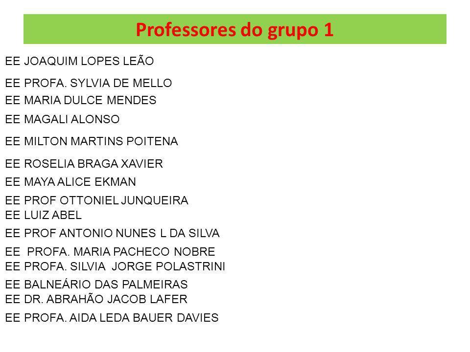 Professores do grupo 1 EE JOAQUIM LOPES LEÃO EE MARIA DULCE MENDES