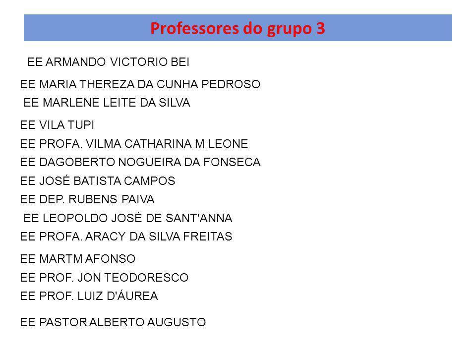 Professores do grupo 3 EE ARMANDO VICTORIO BEI