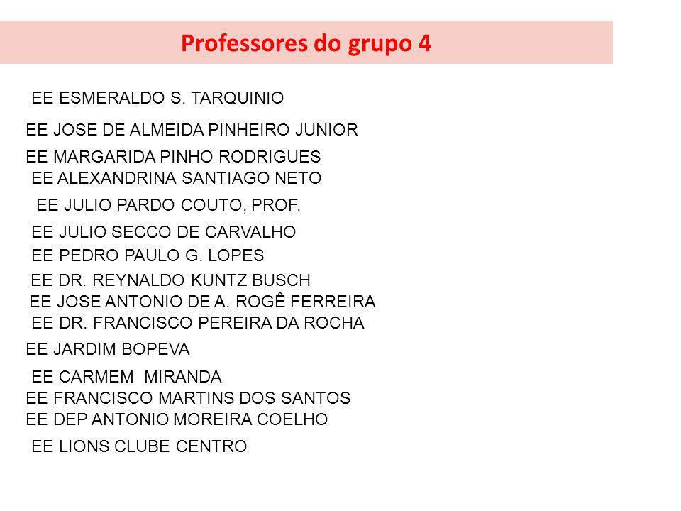 Professores do grupo 4 EE ESMERALDO S. TARQUINIO
