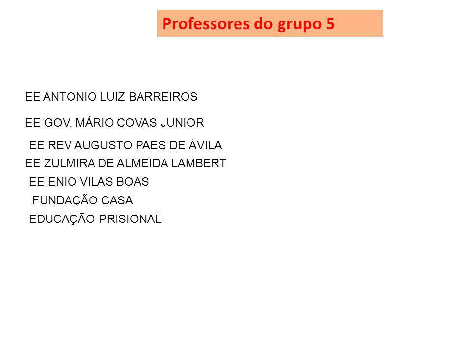 Professores do grupo 5 EE ANTONIO LUIZ BARREIROS