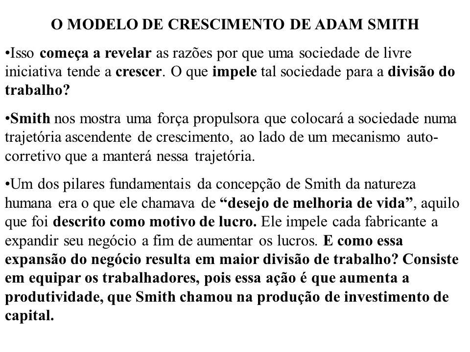 O MODELO DE CRESCIMENTO DE ADAM SMITH