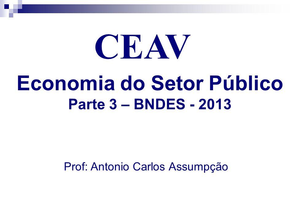 CEAV Economia do Setor Público Parte 3 – BNDES - 2013