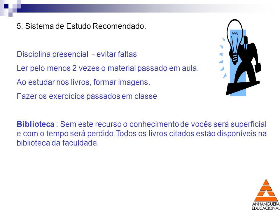 5. Sistema de Estudo Recomendado.