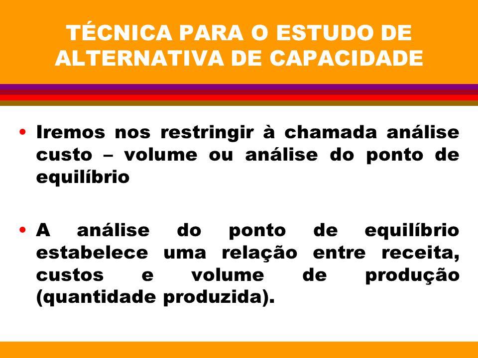 TÉCNICA PARA O ESTUDO DE ALTERNATIVA DE CAPACIDADE