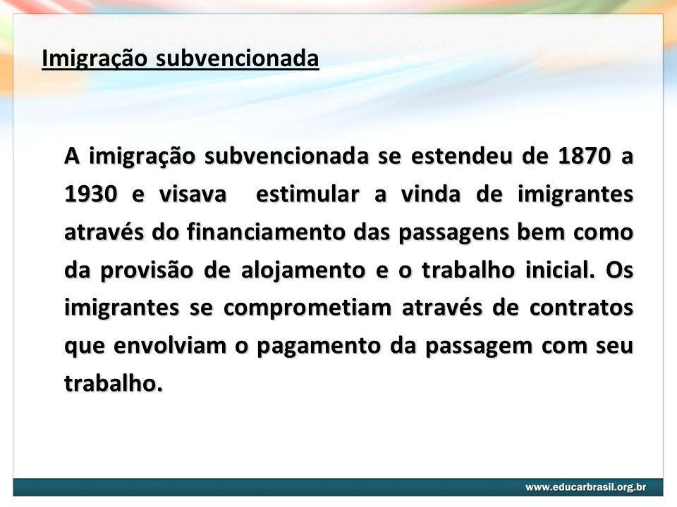 Imigração subvencionada