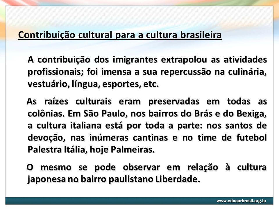 Contribuição cultural para a cultura brasileira