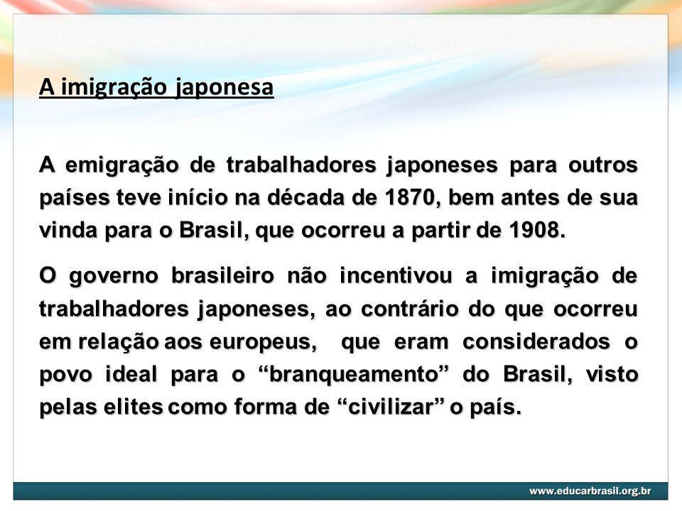 A imigração japonesa
