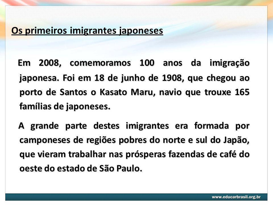 Os primeiros imigrantes japoneses