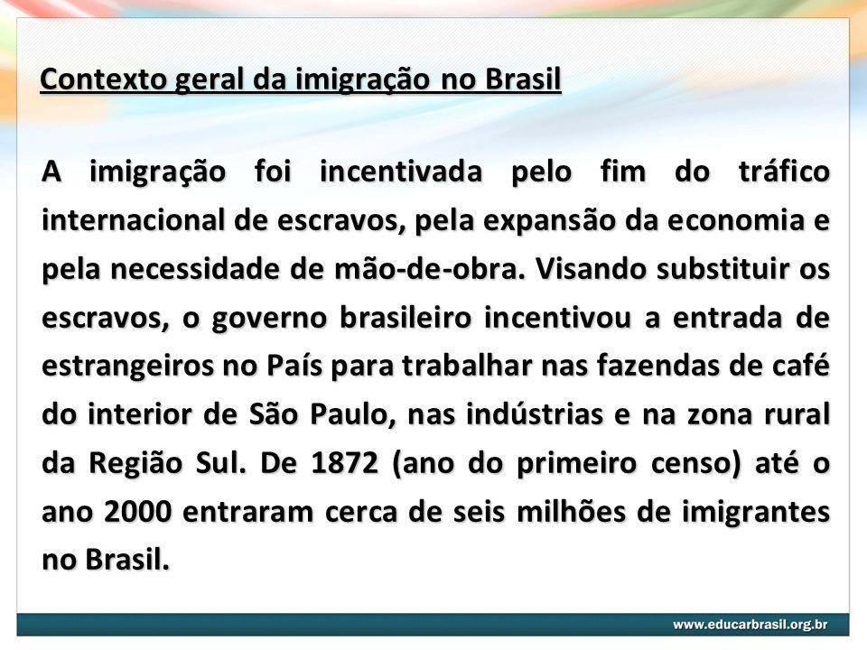 Contexto geral da imigração no Brasil