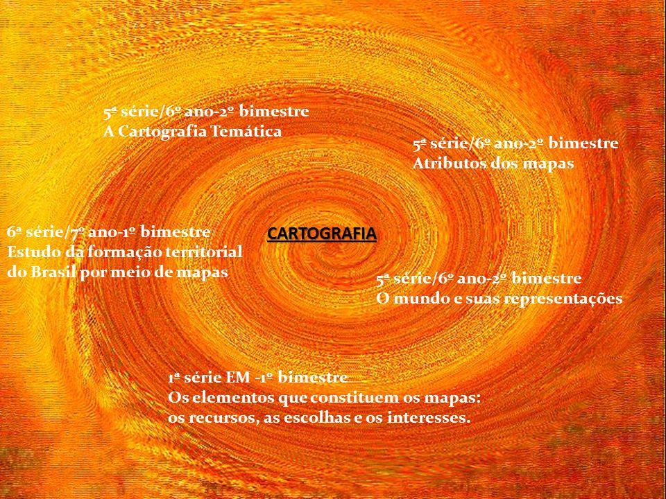 CARTOGRAFIA 5ª série/6º ano-2º bimestre A Cartografia Temática