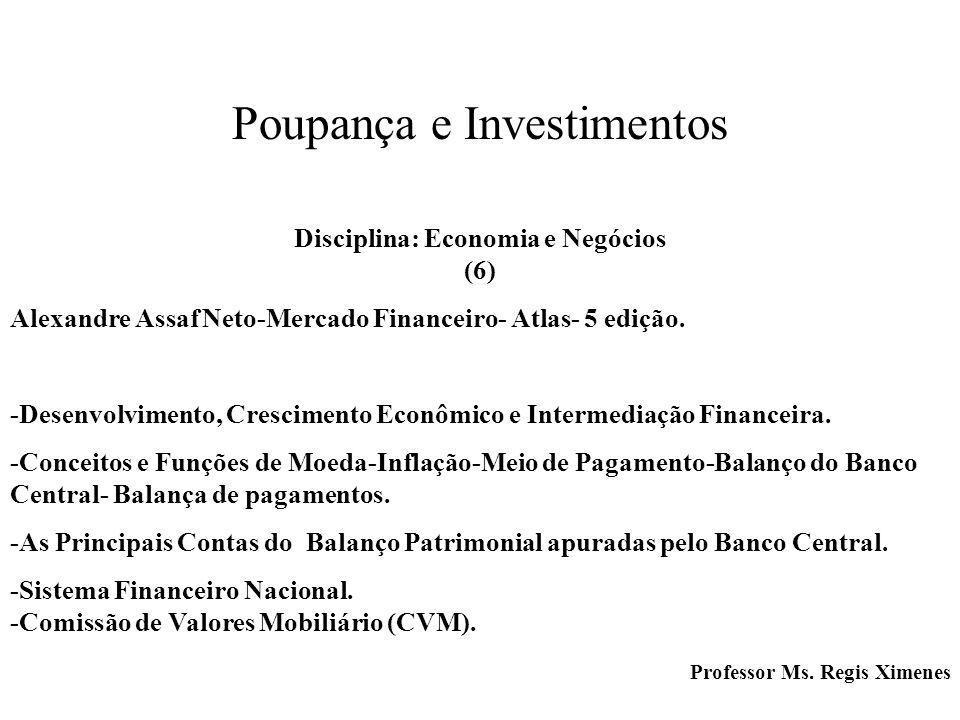 Poupança e Investimentos Disciplina: Economia e Negócios (6)