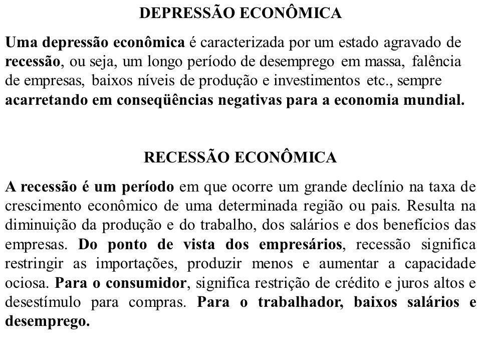 DEPRESSÃO ECONÔMICA