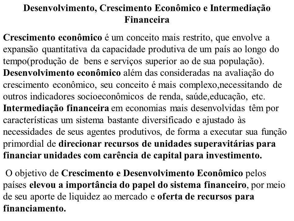 Desenvolvimento, Crescimento Econômico e Intermediação Financeira