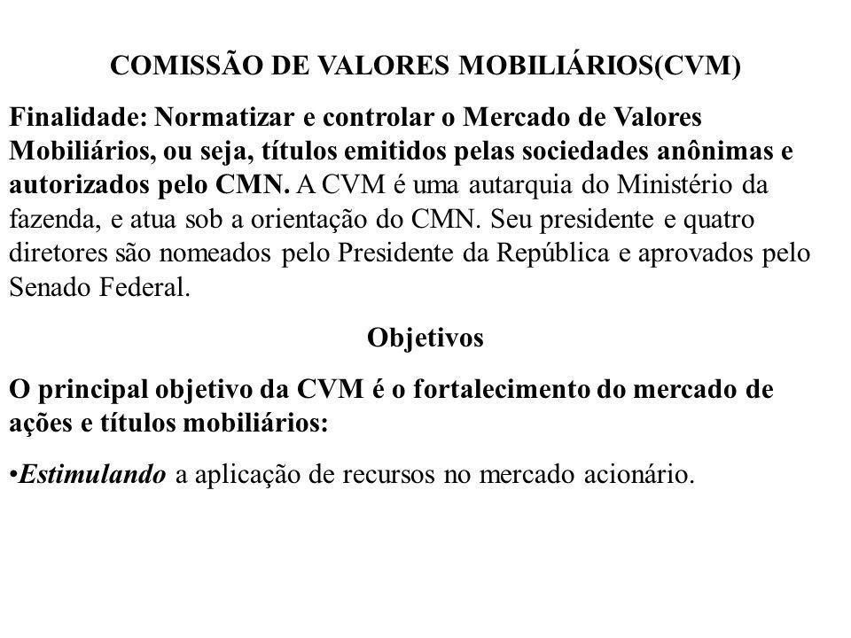 COMISSÃO DE VALORES MOBILIÁRIOS(CVM)