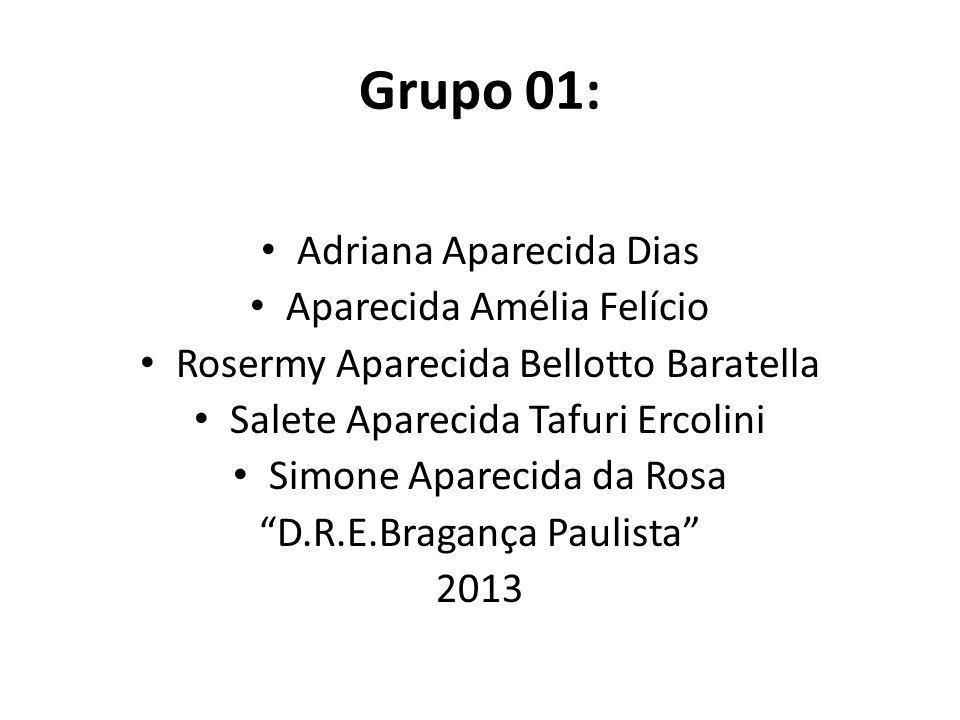 Grupo 01: Adriana Aparecida Dias Aparecida Amélia Felício