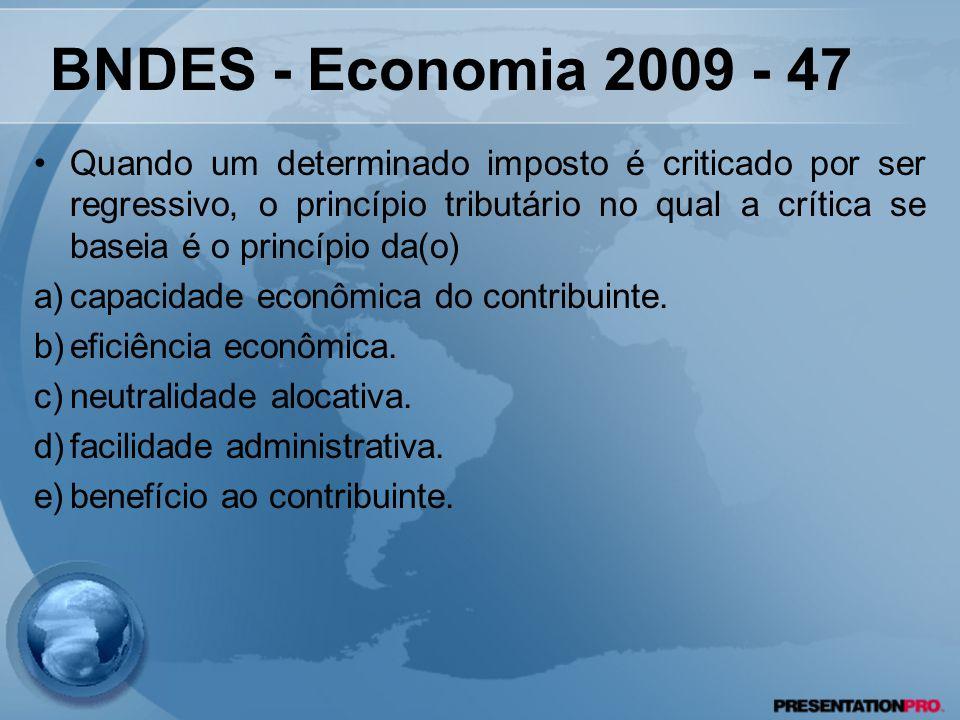 BNDES - Economia 2009 - 47