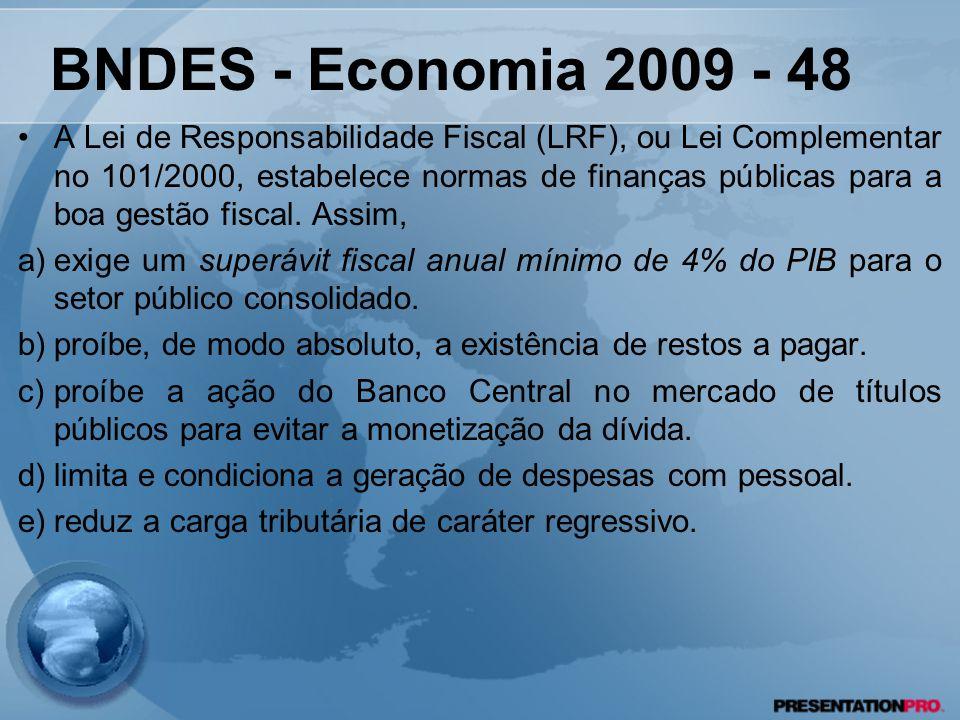 BNDES - Economia 2009 - 48