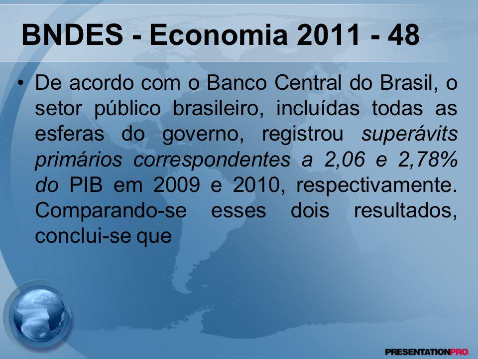 BNDES - Economia 2011 - 48