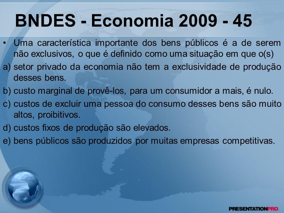 BNDES - Economia 2009 - 45