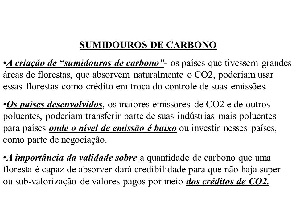 SUMIDOUROS DE CARBONO