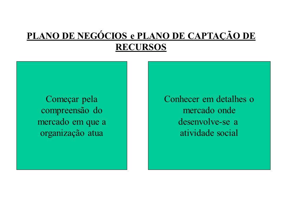 PLANO DE NEGÓCIOS e PLANO DE CAPTAÇÃO DE RECURSOS