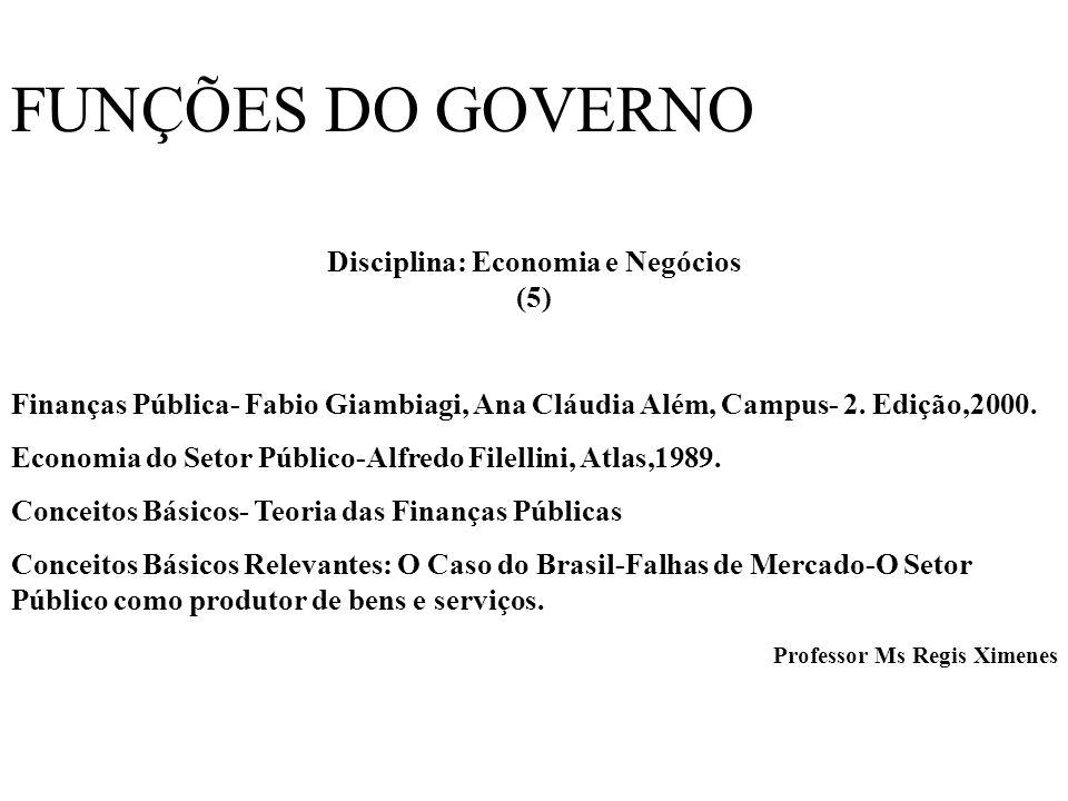 Disciplina: Economia e Negócios (5)