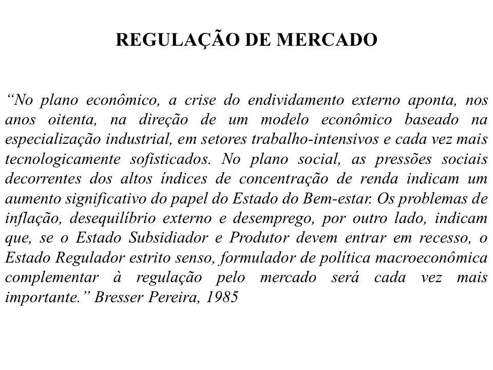 REGULAÇÃO DE MERCADO