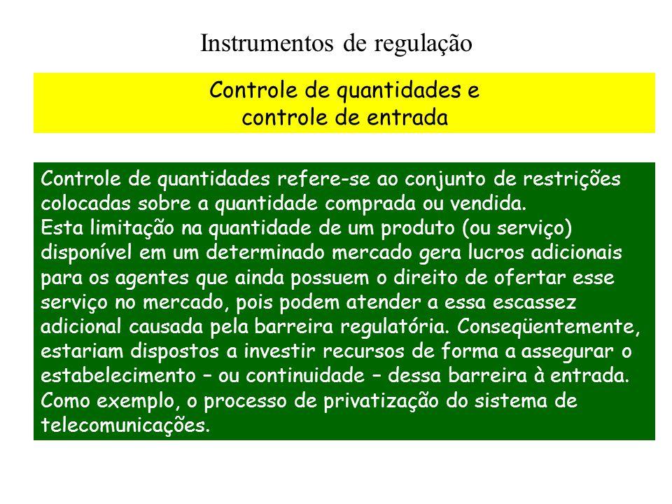 Instrumentos de regulação