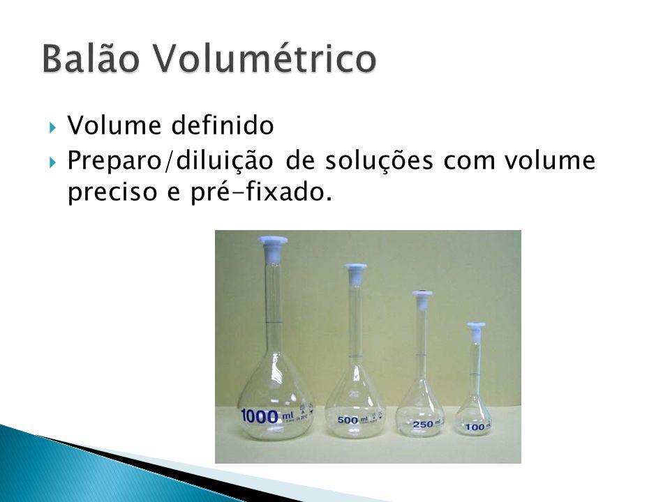 Balão Volumétrico Volume definido