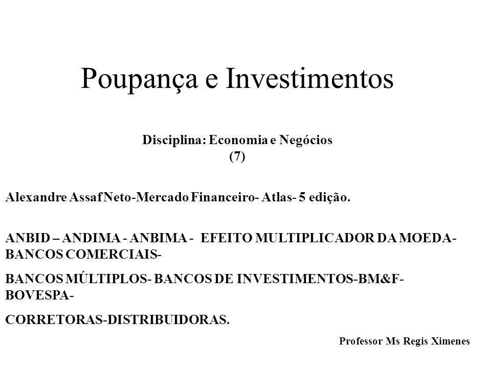 Poupança e Investimentos Disciplina: Economia e Negócios (7)