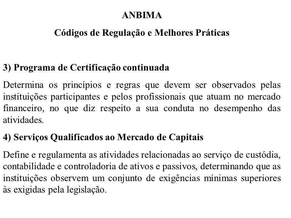 Códigos de Regulação e Melhores Práticas