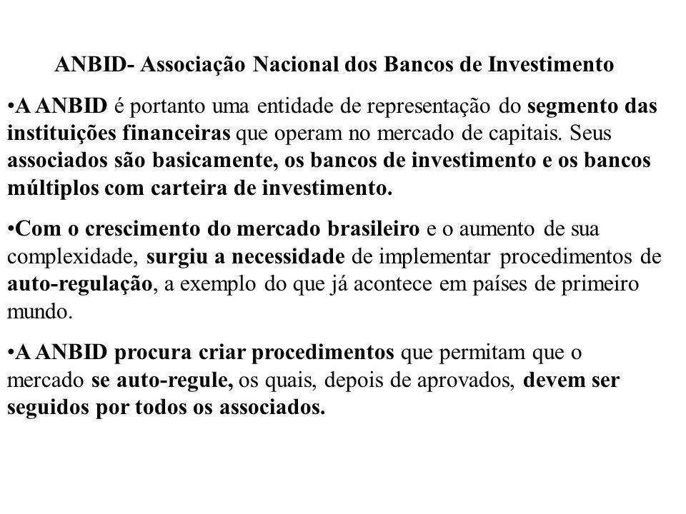 ANBID- Associação Nacional dos Bancos de Investimento