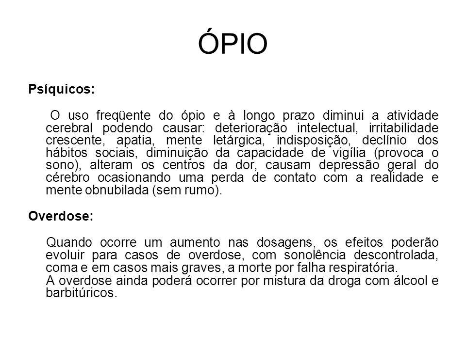 ÓPIO Psíquicos: