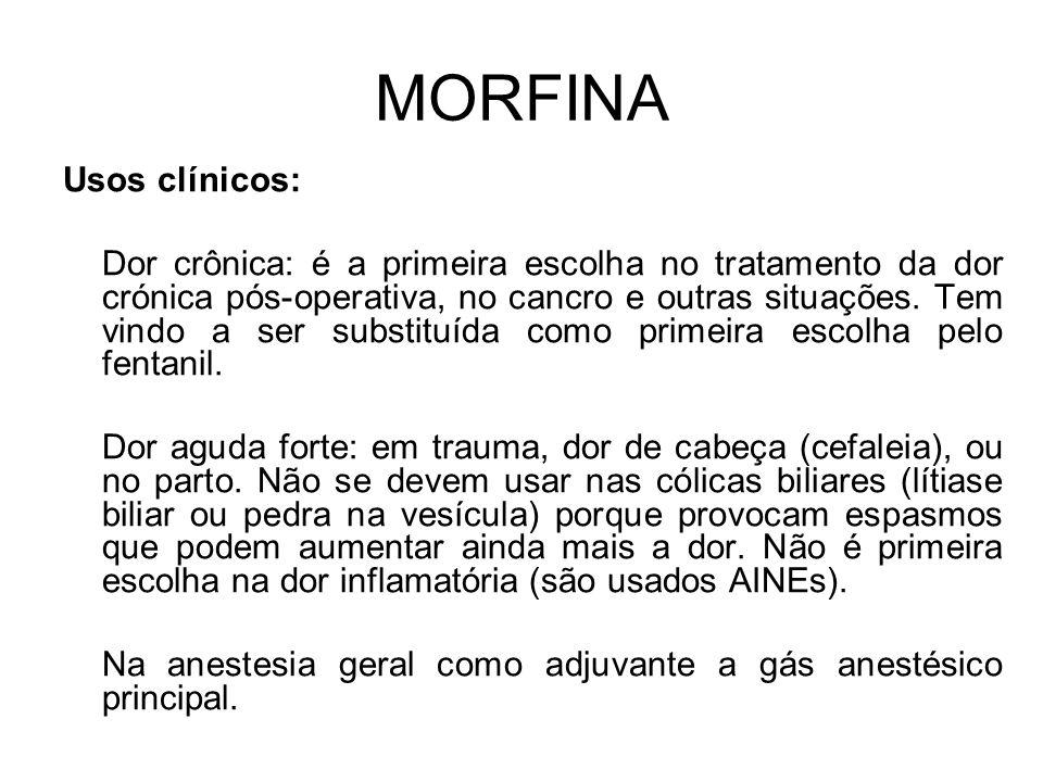 MORFINA Usos clínicos: