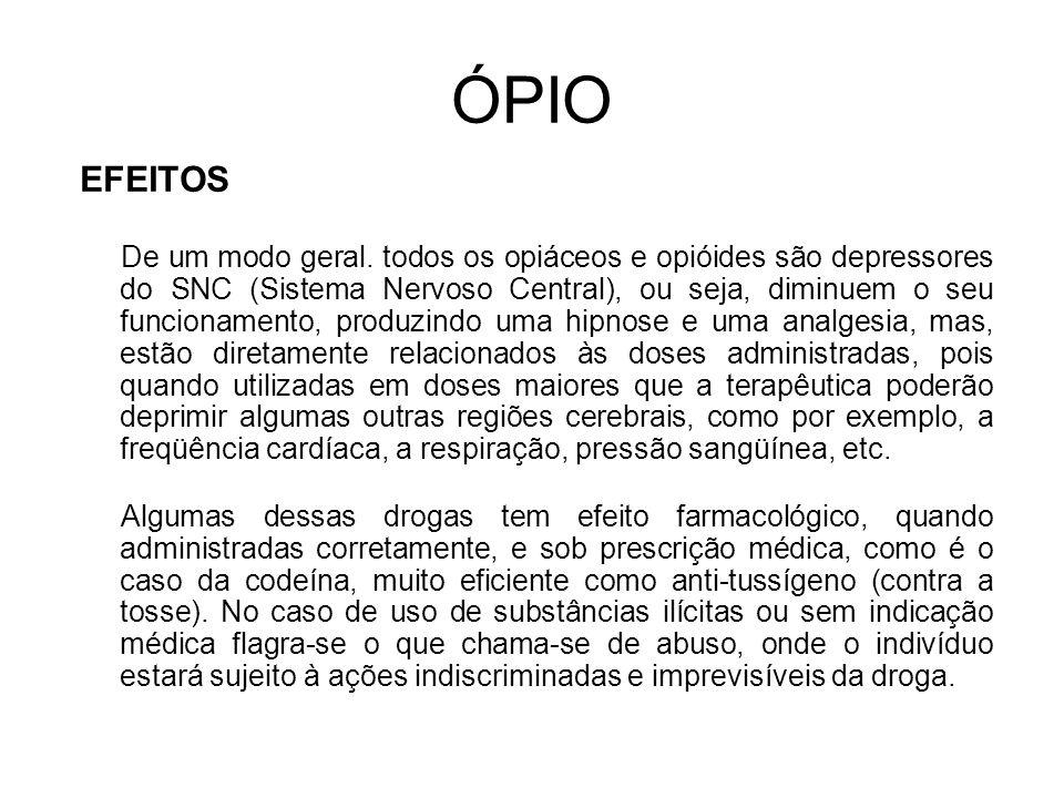 ÓPIO EFEITOS.