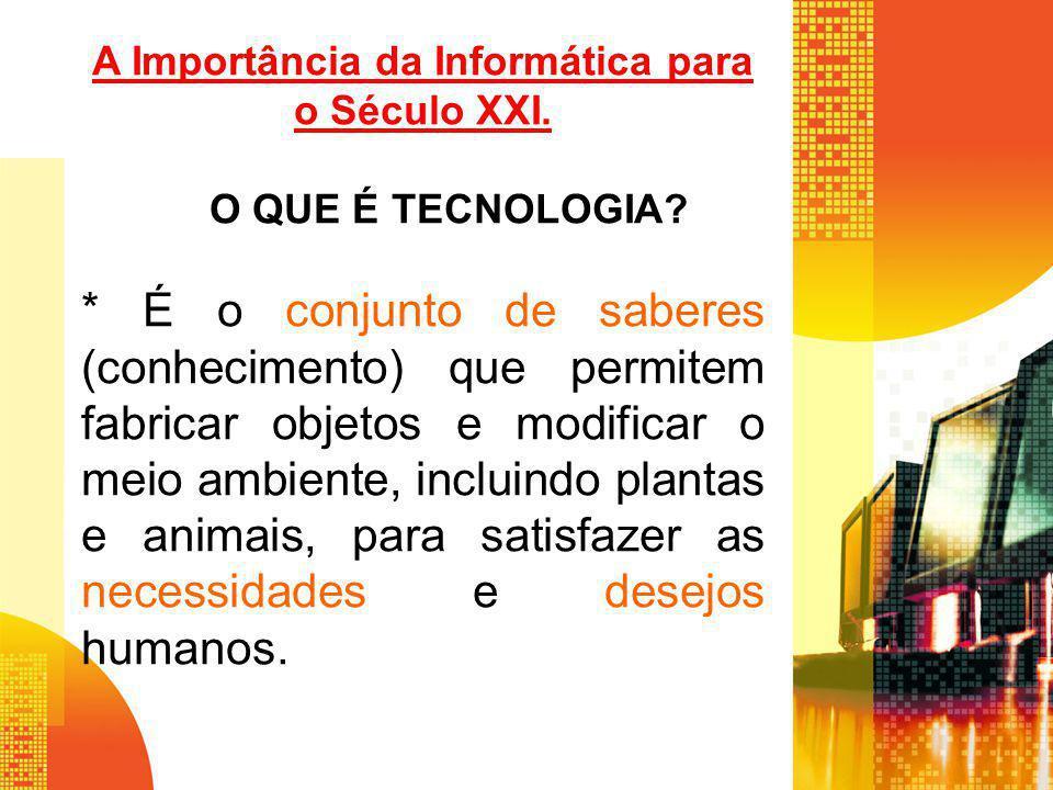 A Importância da Informática para o Século XXI.