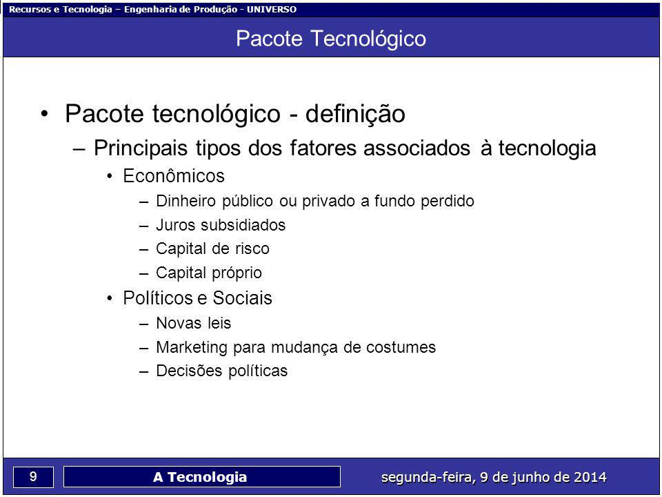 Pacote tecnológico - definição