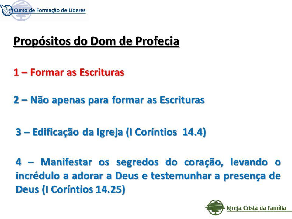 Propósitos do Dom de Profecia