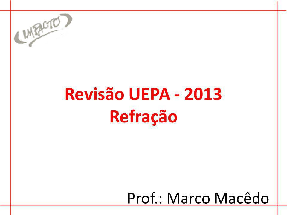 Revisão UEPA - 2013 Refração