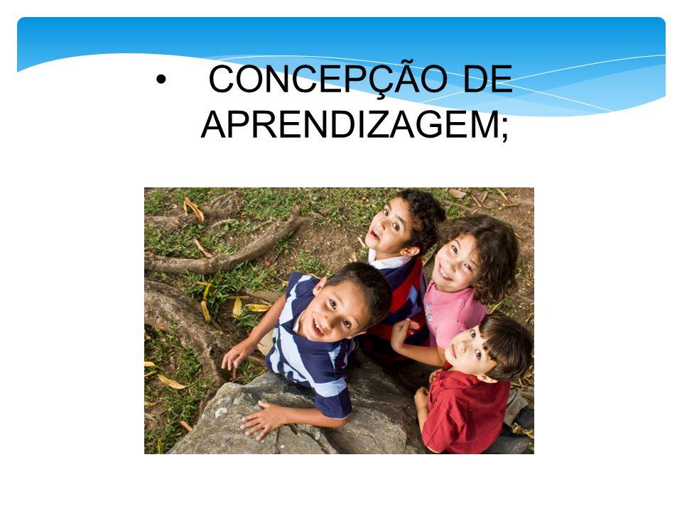 CONCEPÇÃO DE APRENDIZAGEM;