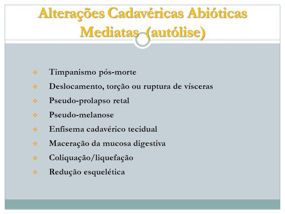 Alterações Cadavéricas Abióticas Mediatas (autólise)