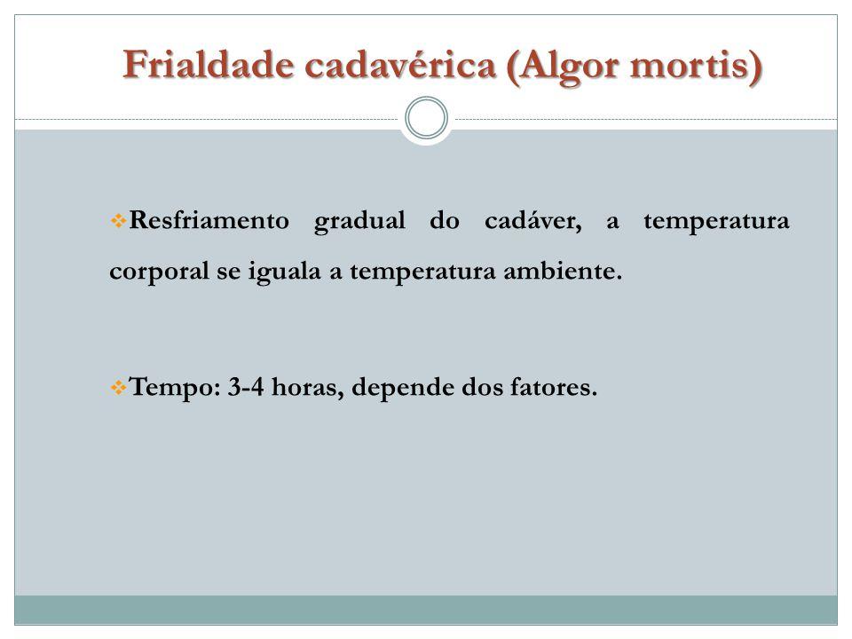 Frialdade cadavérica (Algor mortis)